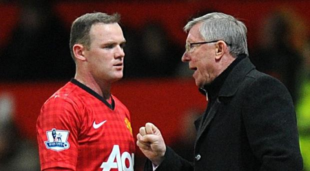 Wayne Rooney, left, and Sir Alex Ferguson did not always see eye to eye