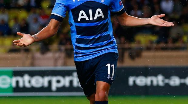 Get in: Erik Lamela was on target for Tottenham