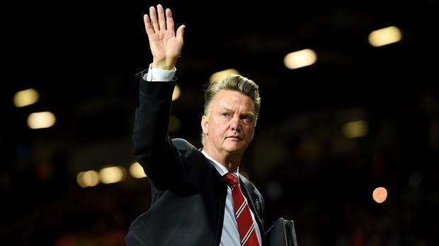 Manchester United manager Louis van Gaal (pictured) goes head to head with Arsenal counterpart Arsene Wenger on Sunday