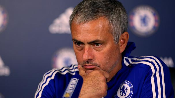 Chelsea manager Jose Mourinho addresses the media