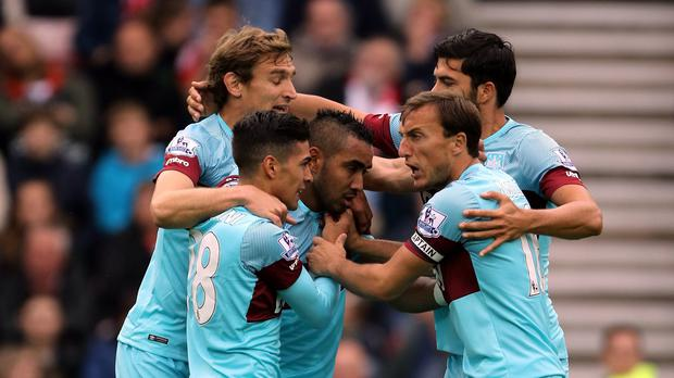 West Ham fought back from two-goals down to earn a point