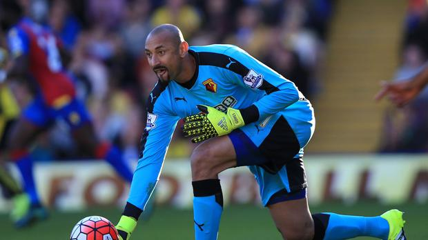 Heurelho Gomes saved a late penalty from Glenn Murray as Watford drew at Bournemouth
