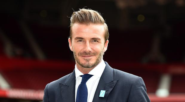 David Beckham returned to Old Trafford on Tuesday