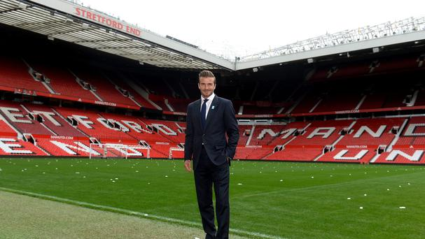 David Beckham at a press call for his charity match on Tuesday
