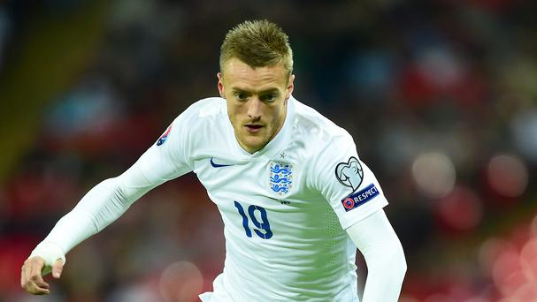 Jamie Vardy made his third England appearance in Friday's 2-0 win against Estonia