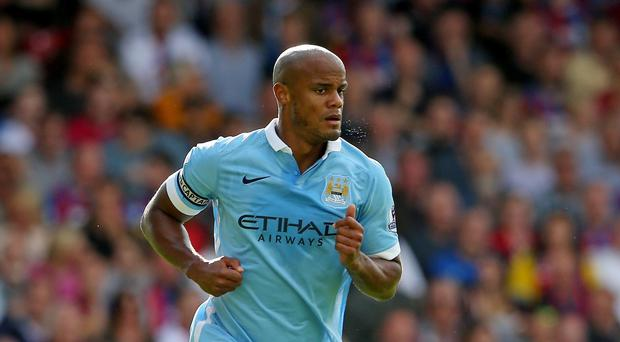 Manchester City's Vincent Kompany has not played since mid-September due to a calf injury