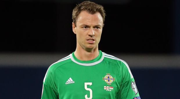 Northern Ireland's Jonny Evans sat out their final Euro 2016 qualifiers with injury.