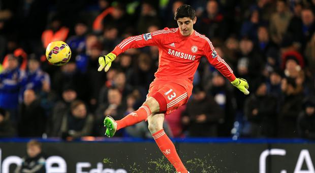 Chelsea goalkeeper Thibaut Courtois is sidelined by a knee injury