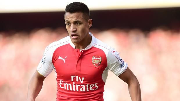 Arsenal forward Alexis Sanchez has been away with Chile during the international break.