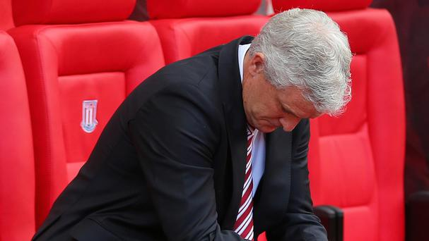 Mark Hughes' Stoke were beaten 2-0 at Swansea in May.