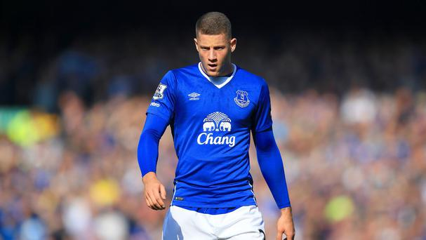 Ross Barkley struggled to impose himself against Manchester United
