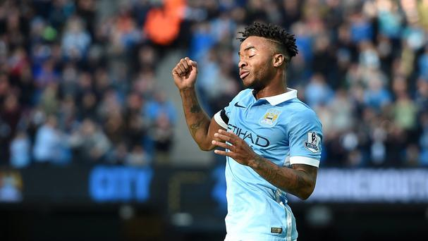 Manchester City's Raheem Sterling took centre-stage with a hat-trick against Bournemouth