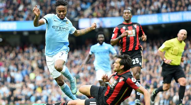 Manchester City's Raheem Sterling is hungry for more goals after netting a hat-trick against Bournemouth