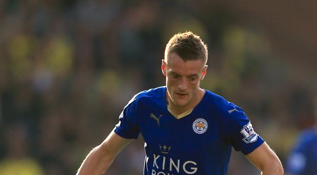 Leicester City's Jamie Vardy is enjoying the best form of his career