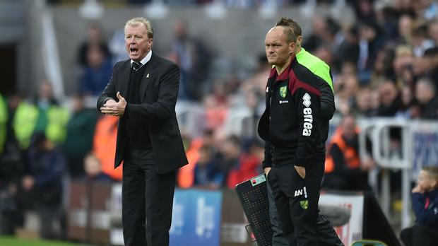 Steve McClaren, left, was a relieved man following Newcastle's first Premier League win this season