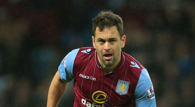 Aston Villa's Joe Cole has struggled for form and fitness since joining the club in 2014.
