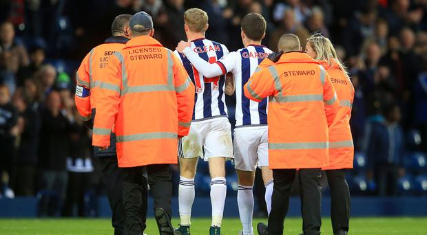 James McClean was escorted from the pitch following his post-match celebration last weekend