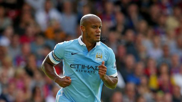 Manchester City manager Manuel Pellegrini must decide whether to bring back Vincent Kompany, pictured, for the derby at Old Trafford