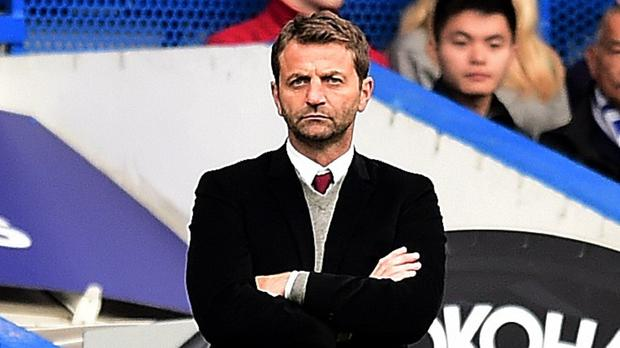 Aston Villa manager Tim Sherwood, pictured, replaced Paul Lambert in February