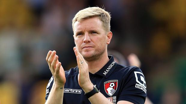 Bournemouth manager Eddie Howe, pictured, is an admirer of Tottenham striker Harry Kane