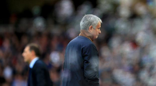 Jose Mourinho was sent to the stands during Chelsea's defeat