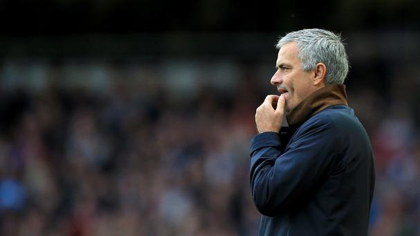 Chelsea manager Jose Mourinho was sent to the stands at Upton Park