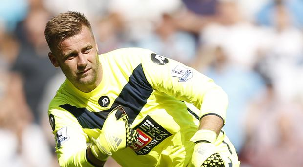 The performance of goalkeeper Artur Boruc, pictured, against Tottenham was defended by manager Eddie Howe