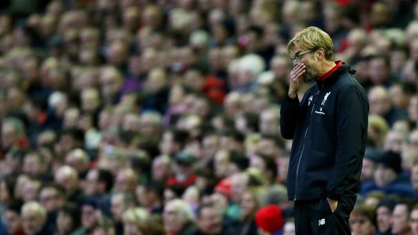 Liverpool manager Jurgen Klopp admits his side feel the pressure at Anfield