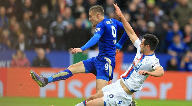 Jamie Vardy scored for Leicester against Crystal Palace