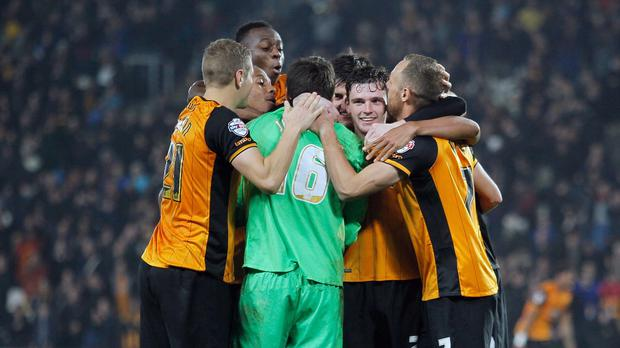 Eldin Jakupovic's shoot-out save secured Hull a historic victory against Leicester