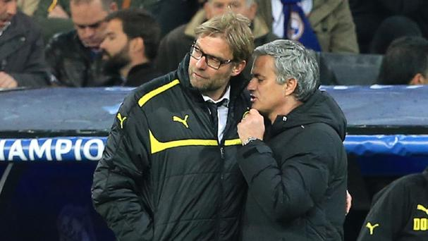 Liverpool manager Jurgen Klopp, pictured left, says Jose Mourinho is a 'nice guy'