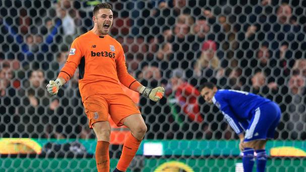 Stoke goalkeeper Jack Butland has been in fine form this season