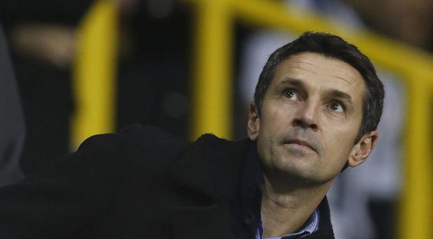 Aston Villa manager Remi Garde in the stands during Monday's defeat at Spurs
