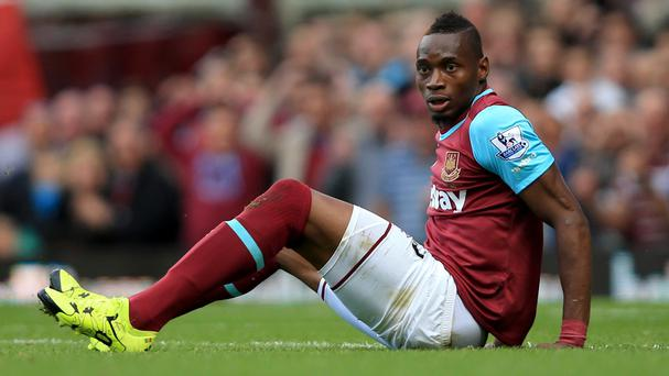 Diafra Sakho has suffered a rupture in his thigh and will sit out the game against Everton