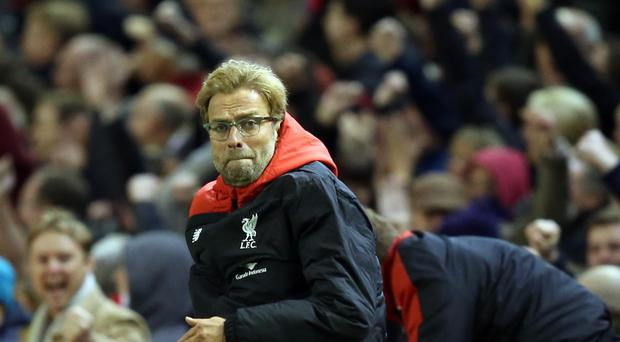 Liverpool manager Jurgen Klopp, pictured, is like Crystal Palace's Alan Pardew, clearly a passionate figure