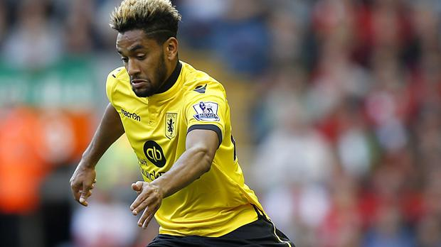 Aston Villa's Jordan Amavi joined the club from Nice in the summer.