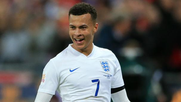 Dele Alli celebrated his first England start by scoring the opener in the victory over France at Wembley