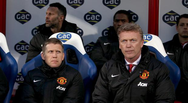 Steve Round, left, worked with David Moyes at Manchester United and Everton.