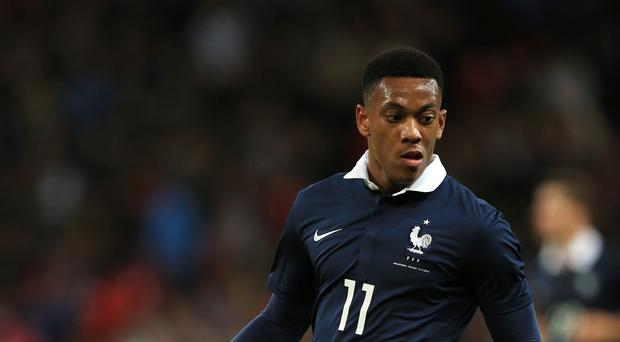 Anthony Martial during France's defeat to Wembley on Tuesday