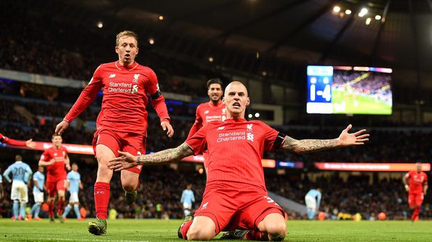Injured: Liverpool defender Martin Skrtel