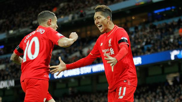 Manchester City were unable to contain Liverpool's Roberto Firmino and Philippe Coutinho