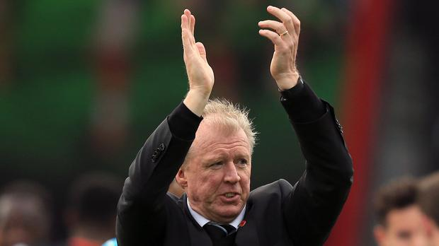 Newcastle head coach Steve McClaren is battling to keep the club in the Barclays Premier League