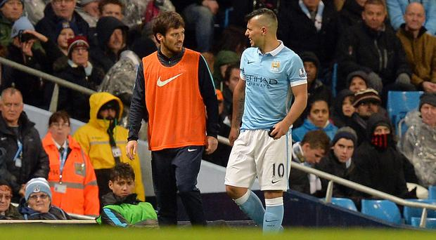 Another injury to Sergio Aguero, right, soured Manchester City's win