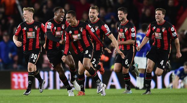 Junior Stanislas, centre, made it a six-goal thriller