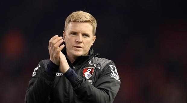Bournemouth manager Eddie Howe watched his team recover to draw 3-3 with Everton