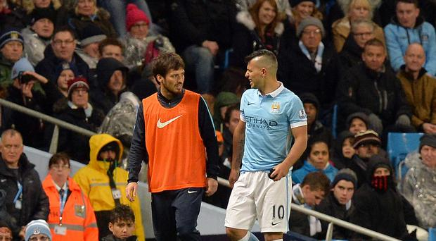 Sergio Aguero limped out of Manchester City's victory over Southampton