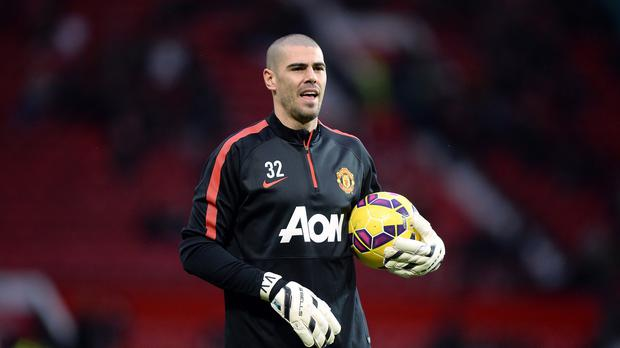 Victor Valdes has only played twice for United since joining on a free transfer
