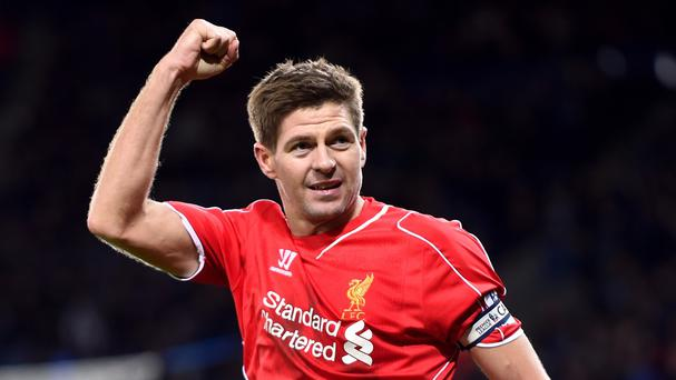 Steven Gerrard is training with Liverpool during the MLS' off-season