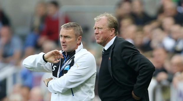 Newcastle manager Steve McClaren (right) has been given plenty of thinking to do by his team's poor form