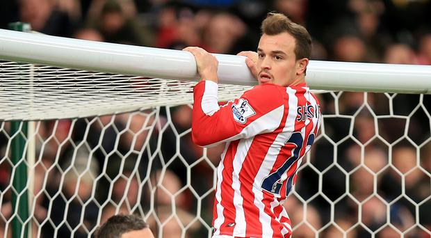 Swing when you're winning - Stoke's Xherdan Shaqiri was the man of the match against Manchester City
